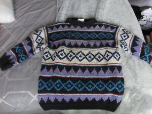 Vintage Old 100% Wool Sweater at least 30 years old Size Large