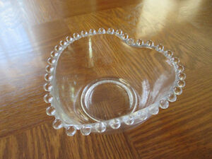 Imperial Glass Candlewick Heart Candy or Nut Dish