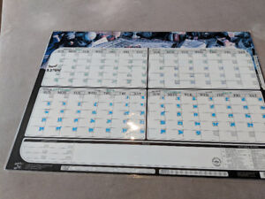 4 & 1 month REUSABLE & reversible wipe off calendar
