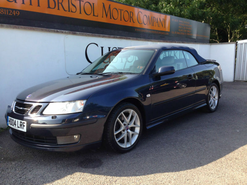 2004 04 saab 9 3 2 0t aero 210bhp auto convertible met blue with leather in somerset gumtree. Black Bedroom Furniture Sets. Home Design Ideas