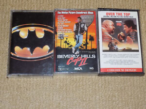 BATMAN, OVER THE TOP, BEVERLY HILLS COP 2, AUDIO CASSETTES