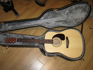 Simon and Patrick Acoustic-Electric Guitar and hard Case