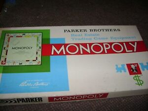 1961 MONOPOLY BOARD GAME