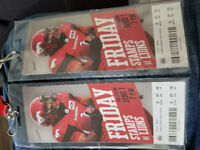 STAMPS GAME OPENER - 55 YARD LINE SEATS X 2
