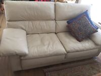Collins & Hayes leather sofas x2