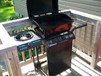BBQ and BBQ Cover (No Propane Tank)