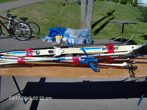 SKIS AND POLES SIZE SMALL MEDIUM AND LARGE