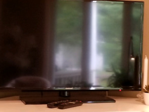 "Samsung 40"" Flat Screen T.V. With Remotes ."