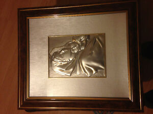 Metal pressed artwork made in Italy