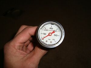 White face liquid filled 0-60 PST fuel/oil pressure gauge