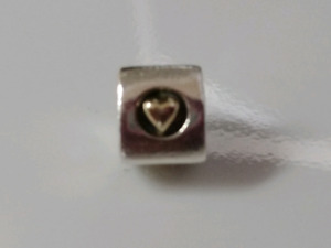 Authentic Pandora Heart of Gold Charm