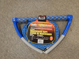 Airhead AHWR-13BL Bling Blue 75'5 Section Spectra Wakeboard Rope
