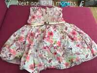 Lovely girls next dress 12-18 months