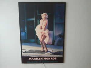 Marilyn Monroe Laminated Picture With Hot Pink Neon Light