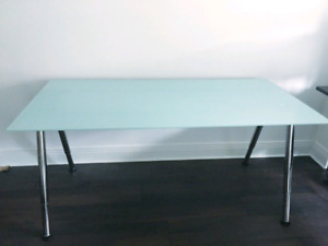 Frosted Glass Office Desk