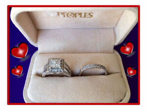 OR Best Offer! 3 PC ENGAGEMENT RING & WEDDING BAND SET!
