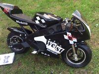 Vixen Mini Moto 49cc Racing Bike Black
