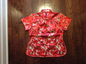 Halloween Costume Chinese satin tops & jackets