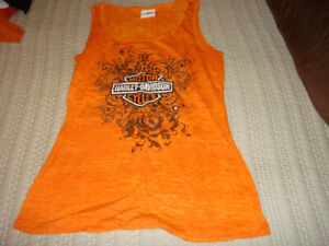 Harley Davidson women's orange tank top