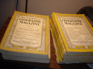 MAGAZINES - VINTAGE NATIONAL GEOGRAPHIC 1927-1936 ASSORTED...