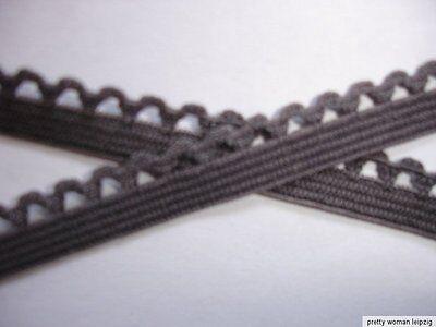 10m elastische Spitze 0,28€/m graubraun  8mm breit TA6