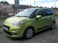 2011 Citroen C3 Picasso 1.6HDi 8v 90bhp Euro V Exclusive 5DR 61 REG Diesel Green