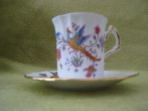 Demitasse, Hammersley in the Bird of Paradise pattern.