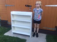 FRENCH OAK OFFICIAL SHABBY CHIC BOOK SHELF JUST £28