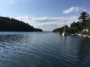 Ocean Front Condo with Dock For Rent in Deep Cove, NS