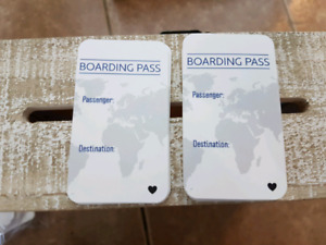 Travel themed seating cards