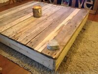 LARGE BARN STYLE COFFEE TABLE, shabby chic, rustic, pallet