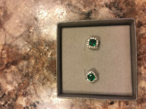 Emerald Earrings - Great Christmas Gift!