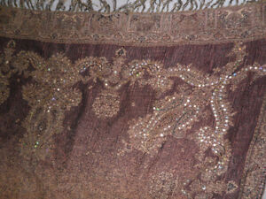 Sequined throw for couch or bed