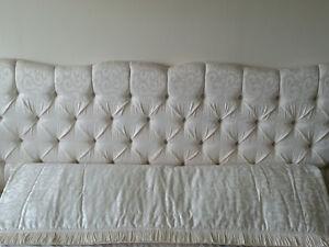 Fabric Bedroom King Headboard & Free King Bedspread