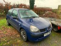 2003 03 Renault Clio 1.2 16v Expression SPARES OR REPAIR
