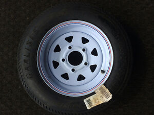 Trailer tire and rim
