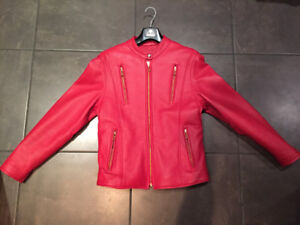 Leather ladies (motorcycle) jacket with inner - REDUCED