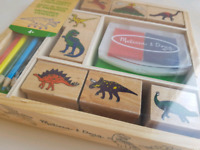 Brand new Melissa & Doug Dinosaur stamp set