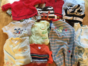 Large box of newborn to 6 month clothing.  Excellent condition.