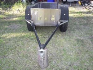 stainless steel trailer for pull behind ATV