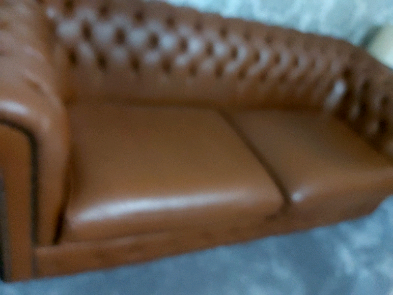 2x chesterfield 3 seater sofas (leather) | in Kingswood, East Yorkshire | Gumtree