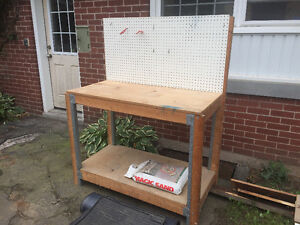 Garage work bench and shelving unit - BEST OFFER