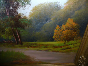 "Original Oil Painting ""Early Summer Path"" Vintage Early 1900's Stratford Kitchener Area image 6"