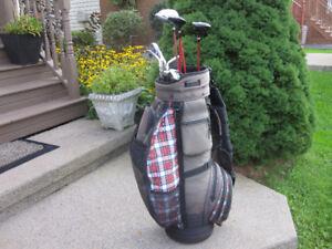 Men's Right Hand 10-pc Golf Clubs Set & Golf Cart Bag