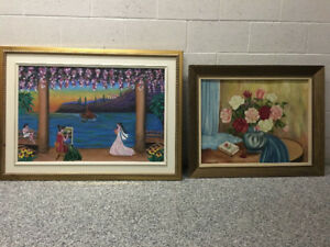 2 tableaux peinture à l'huile/Oil paintings both for 50$
