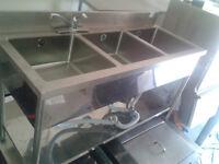 Compartment Sink ( used restaurant equipment)