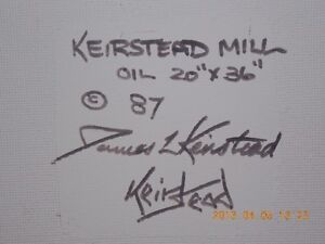 Original Oil Painting by James L. Keirstead – Keirstead Mill Kitchener / Waterloo Kitchener Area image 3