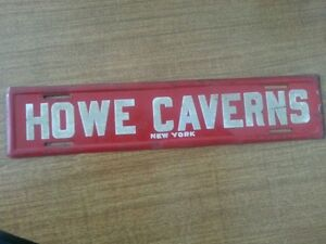 1950's HOWE CAVERNS License Plate Topper