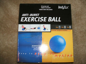 55 cm Anti-Burst Exercise Stability Ball--NEW! Includes air pump London Ontario image 1
