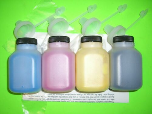 4 Toner Refill + 4 Chips for (CF500A-CF503A) for HP 202A LaserJet M254 M280 M281